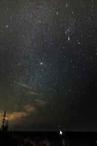 城ケ島のカノープスと冬の銀河